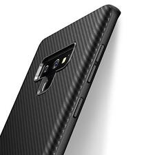 Samsung Galaxy Note 9 Hülle Schutzhülle Silikon Case Schwarz Cover Carbon Optik