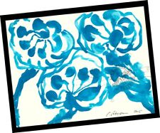 3 Ladies Shine in Sun My Garden 2015 Contemporary Art Abstract PAINTING SIGNED