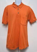 Hermès hermes Polo Top Shirt Designer jaune Sz L Large en Coton Orange Authentique