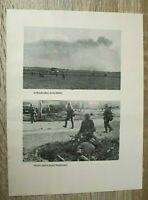 Blatt Bilder Dünkirchen Soldaten Maschinengewehr MG 1940 Funker Inf.  2. WK WWII