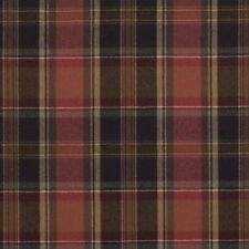 4.75 yds Ralph Lauren Upholstery Fabric Ian Plaid Wool Balmoral Red QH