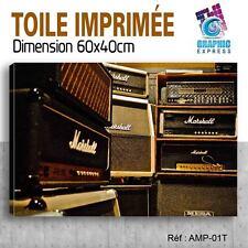 60x40cm - TOILE IMPRIMÉE - TABLEAU MODERNE DECORATIONMUSIQUE AMPLI MARSHALL - AM