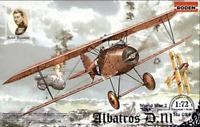 Roden 024 - Albatros D.III Oeffag S.153 Early Wwi - 1/72 Scale Model Kit 125 mm