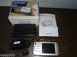 """Low Vision Portable Magnifier 4"""" LCD color NEMO handheld visual aid"""