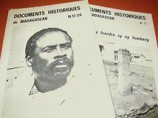 Documents historiques de MADAGASCAR N. 17-24