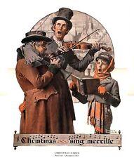 Norman Rockwell Singing Trio Print Christmas Carol