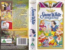 SNOW WHITE AND THE SEVEN DWARFS VHS PAL WALT DISNEY CLASSIC  BARGAIN RARE