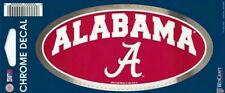 "ALABAMA Crimson Tide University of Alabama 3x5"" Chrome Car Bumper, Window Decal"