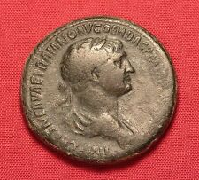Ancient Roman Traianus Sestertius, Nice Patina!