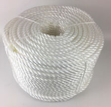 24mm White Polypropylene Rope x 20 Metres, Poly Rope Coils, Cheap Nylon Rope