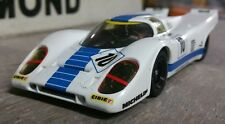 #10 Porsche 917 1/32nd Custom Built Slot Car. Carrera NIB with display case