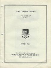 1964 Gas Turbine Engines Army Aviation Manual/Ft Rucker