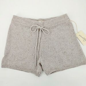 Universal Thread Women Lounge Shorts Size S Beige Mid Rise Knitted Cotton New