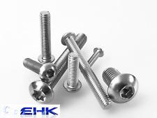 Linsenkopfschrauben M2/M3/M4/M5/M6/M8/M10 ISO 7380 Innensechsk/Torx Edelstahl