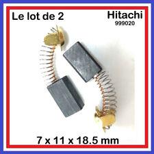 Lot de 2 Balais Charbons 7 x 11 x 18.5 mm HITACHI HIKOKI 999020