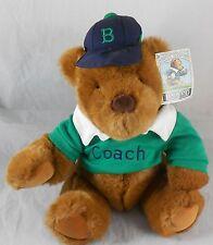 Lands End Coach Paul Bear Rugby Gund Plush Teddy 1991 Glasses