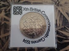 10th British Commonwealth Games 1974 $1 NZ Coin in Original Uncirculated Packing