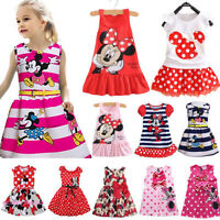 Baby Kids Girls Minnie Mouse LOVELY Party Dress Sleeveless Summer Skirt Clothing