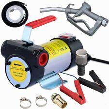 Electric Fuel Transfer Pump Diesel Kerosene Oil Auto 12v With Inlet Outlet Hose