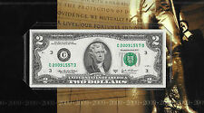 2009 Anniversary/Birthday $2 Note, BEP Collection! UNCIRCULATED! Philadelphia!