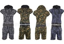 Men's Camouflage Jogging Set Sleeveless Hood Zipper Gillet Short Cord Tracksuit