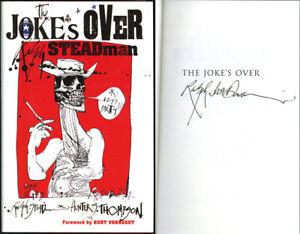 Ralph Steadman SIGNED The Jokes Over HC 1st Ed H Thompson PSA/DNA AUTOGRAPHED