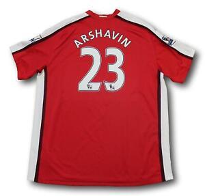 2008-10 Premier League Arsenal Andrey Arshavin Home Soccer Football Jersey 2XL