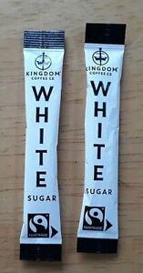 Fairtrade Cane White Sugar Sticks Portions Sachets Individual 75 BB June 2023