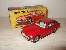 Vintage rare CORGI TOYS 327 MGB GT dans boîte originale corgi avec des fonctionnalités.