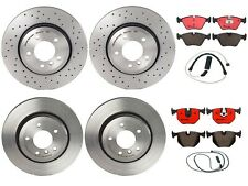 Brembo Brake Kit Front & Rear Disc Rotors Ceramic Pads with Sensors For BMW E46