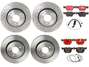 Brembo Front & Rear Brake Kit Disc Rotors Ceramic Pads with Sensors For BMW E46