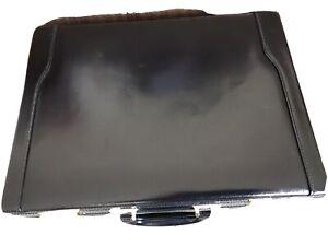 Executive Expanding Attache Black Briefcase Pu Leather Executive Case w