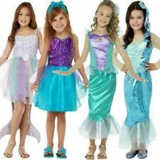 Mermaid Kids Costume Girls Ariel Storybook World Book Day Fancy Dress Outfit