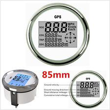 9-32V 85mm Marine Auto Car Digital GPS Speedometer Odometer LCD Gauge 0-999Knots