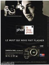 PUBLICITE ADVERTISING 095 2009  CANON  EOS 500D appareil photo Avec FAZIL SAY