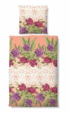 Bettwäsche Baumwolle Seersucker 135x200 40x80 4tlg Rosen Lilien rosa lila bunt