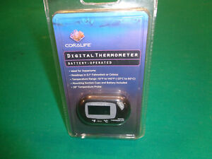Coralife Digital Thermometer Good For Terrariums Fresh and Saltwater Aquariums