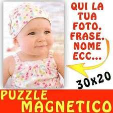 Puzzle Magnetico formato A4 20x30 personalizzato con foto Magnete - calamita bam