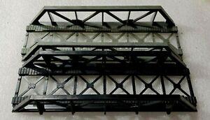 Set of 2 HO-Scale Tyco / Revell  Truss Bridges 1 x Gray, 1 x Black Vintage, EUC