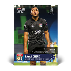 Topps Now UCL - Card 077 - Rayan Cherki - RC Rookie Candidate Olympique Lyonnais