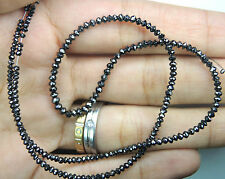 Natural Loose Diamond Round Faceted Bead Black Color I3 Clarity 16 Inches Q67