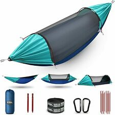 New listing Hammock, Upgrade Double & Single Camping Hammock with Mosquito Net, Tree Straps,