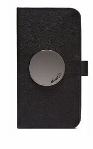 MIMCO Phone Flip Case WAVER Cover iPhone XR Black Gunmetal BNWT Dust Bag RRP$100