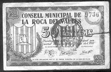 Ayuntamiento de  La ROCA del VALLES 50 Centimos  @ Valles Oriental - Barcelona @