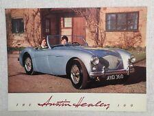 Austin Healey 100 Car Sales Brochure 1950s Vtg Rare Scarce Original No Reprint