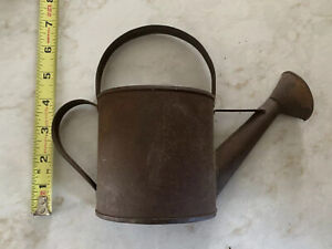 Vintage Metal Flower Plant Watering Can Wall Pocket Holder Decor