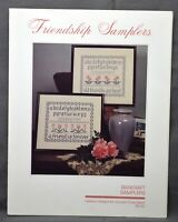 Barkraft Heirloom Designs FRIENDSHIP SAMPLERS Cross Stitch Pattern 1985 Leaflet