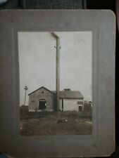 Super 19th Century Factory Photo, Two guys on a Chimney, WOW!