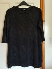 Ladies Size L (16/18) 3/4 Sleeved Sparkly Longline Top/Dress from Wallis