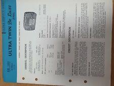 Vintage Manual ULTRA R906
